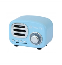 Speaker-Bluetooth-Wireless,-Design-Radio-Classico,-azzurro-Techly-34